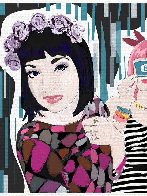 Portrait Of @GalaDarling-art-iPad-Rita Flores-drawing