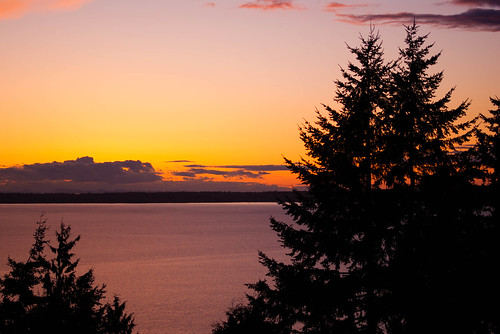 sunset over Bellingham