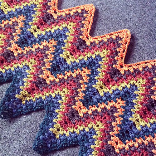 #retro #crochet #blanket is growing