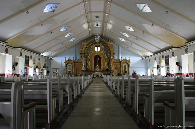 interiors of st. john the baptist parish church daet camarines norte