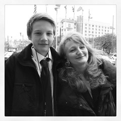 Krista Tippett and Son Sebastian in Montgomery, Alabama