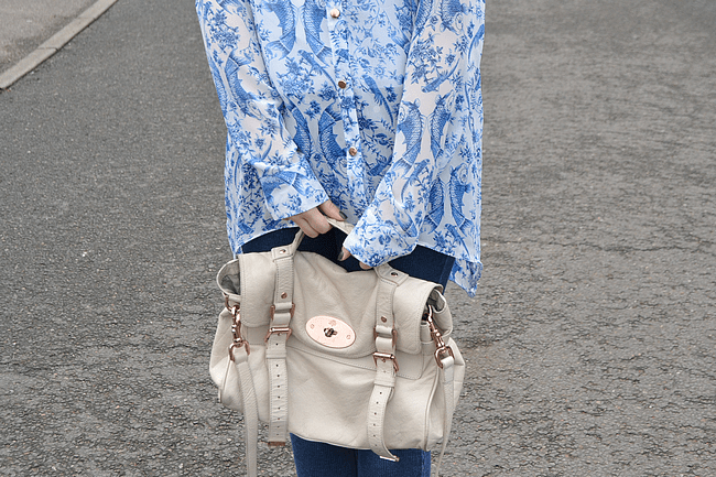 daisybutter - UK Style and Fashion Blog: what i wore, primark, chanel, shirt and jeans, how to wear a collared shirt, mulberry alexa