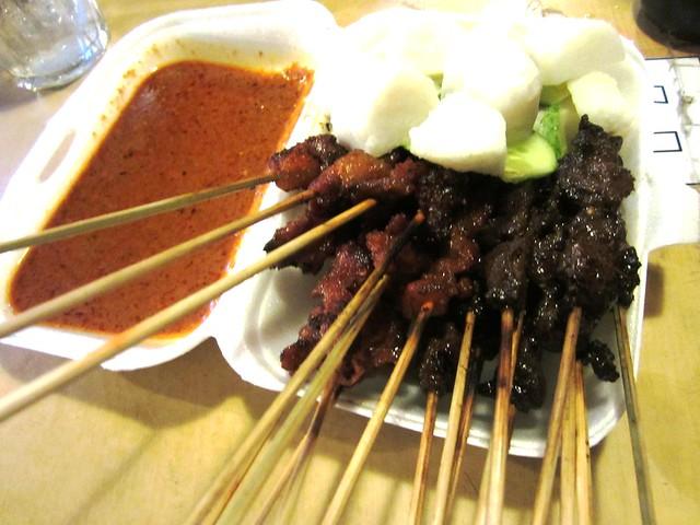 Satay, ketupat & peanut sauce