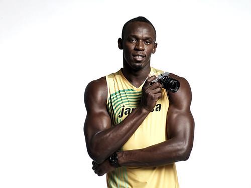 Usain Bolt y la camara Samsung NX300