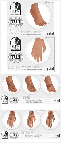 Tuli Appliers for Slink feet and hands