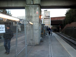 Platform level at Salford Crescent