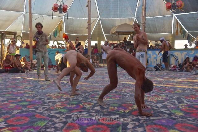 naturist capoeira 0105 Burning Man 2012, Black Rock City, NV, USA
