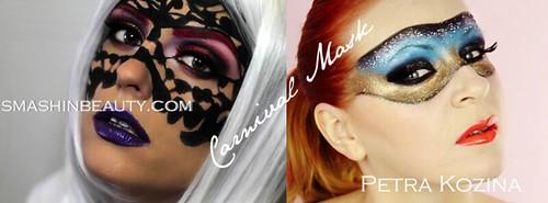 Carnival Mask Makeup Tutorial Petra Kozina SmashinBeauty face mask face painting