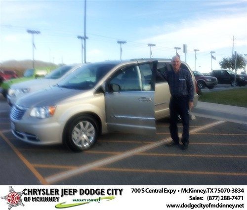 Congratulations to Dale Strohmeyer on the 2013 Chrysler Town & Country by Dodge City McKinney Texas