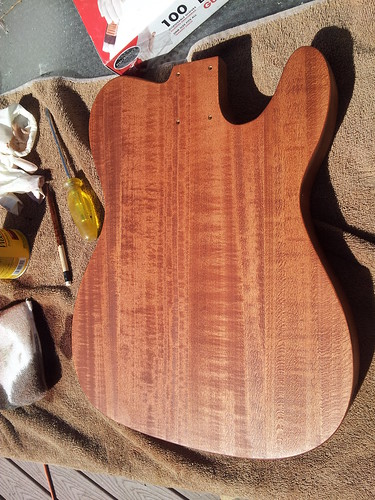 Telecaster Body: Second Coat of Stain