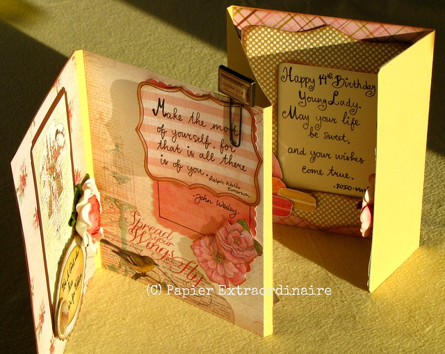 Spring theme birthday card (4)