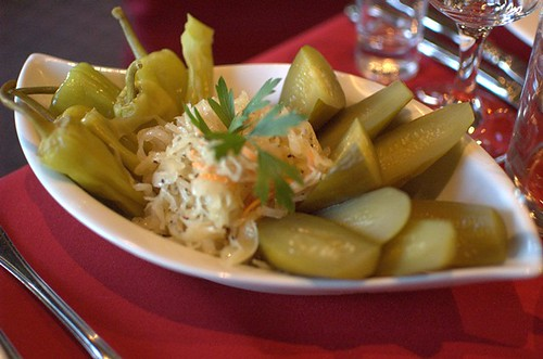 Russian-style crisp pickled gherkins