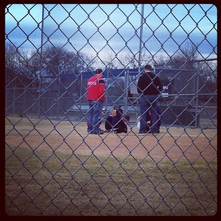 At the ball field. Brings back so many memories of watching @cbo3000 play ball so many years ago!