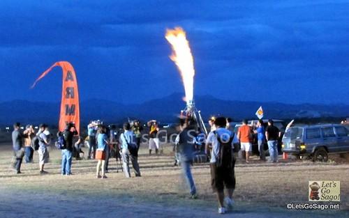Hot Air Balloons Set up at dawn