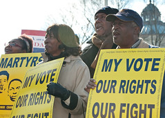 Protect the Voting Rights Act rally at the SCOTUS