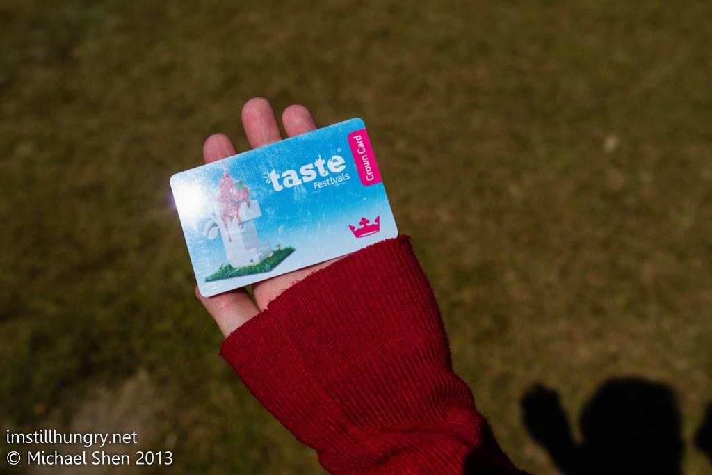 Taste of Sydney crown card