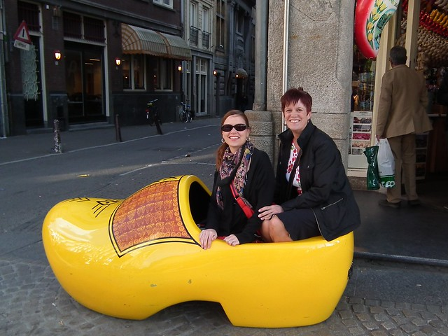 In a giant wooden shoe in Amsterdam