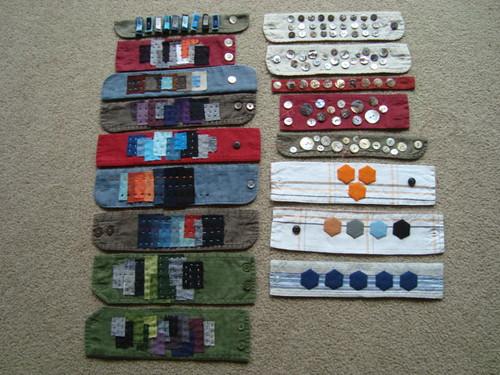 Repurposed cuff bracelets