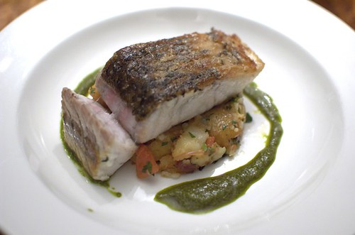 Barramundi & duck fat potatoes