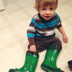 He wouldn't walk in them.  #surelookedcutethough #latergram