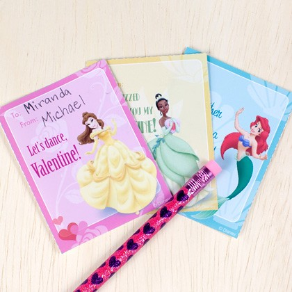 Disney Princesses Valentine's Cards