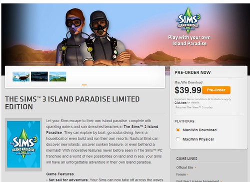 Island paradise pre order