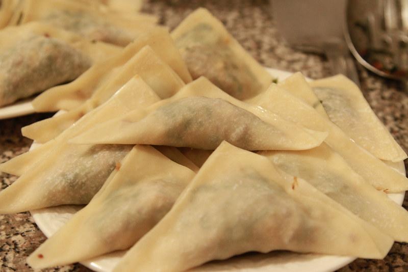 dumplings, folded