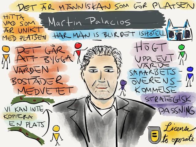 Sketchnotes från @palace Martin Palacios snack på #aggro13