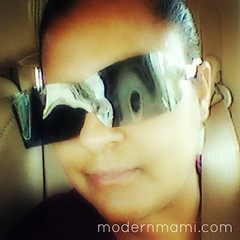 Fun with Sunglasses after Dilated Pupils Eye Exam