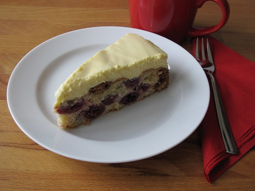 Amarettini-Kirsch-Kuchen mit Mascarpone-Amaretto-Creme