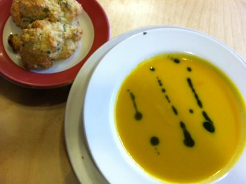 Soup, biscuit @ Elliott Bay Cafe