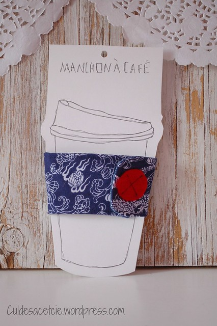 eco fabric coffee sleeve