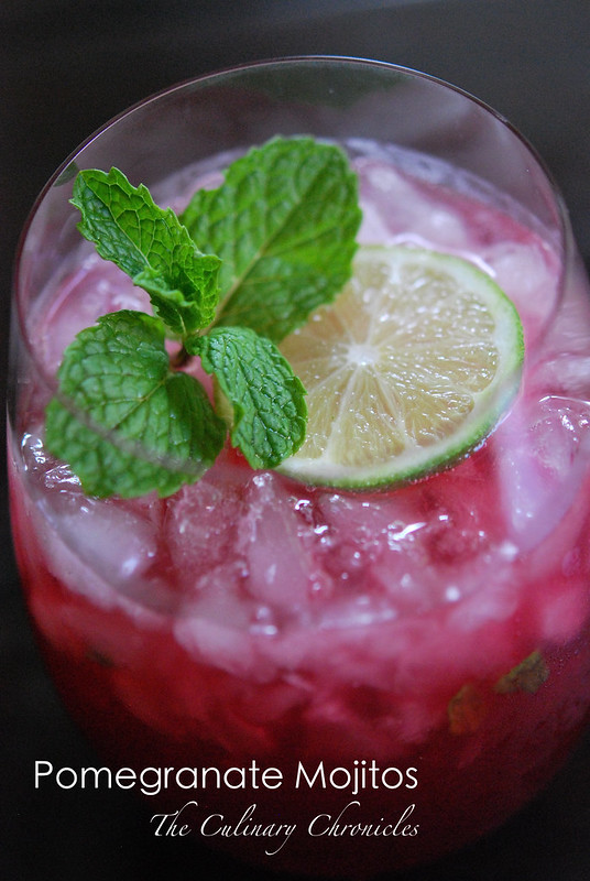 Pomegranate Mojitos