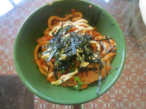 Kimchi tuna yakiudon