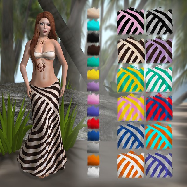 Lacuna - Bandeau Tops & Diametric Maxi Skirts
