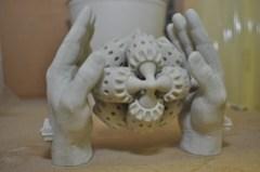 PADT SLS Prototype of Hands Holding Gears