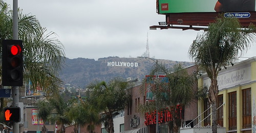 obligatory hollywood sign photo
