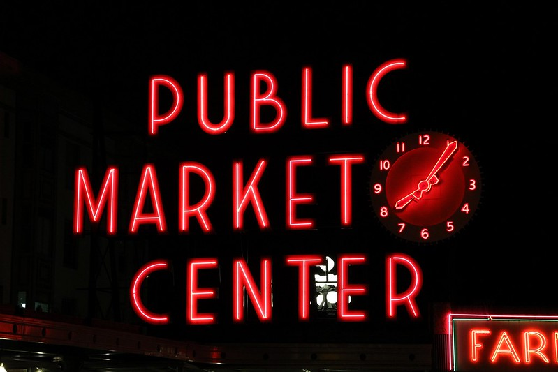 Market time at Pike Place in Seattle