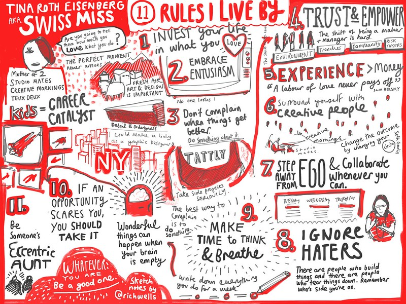 My notes from @swissmiss' sxsw talk '11 rules I live by'