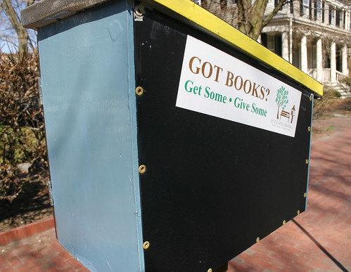 Back of the little free library