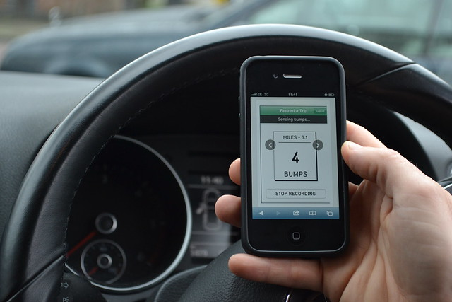 Street Bump has been pioneered by the Mayor's Office in Boston with the aim of collecting data from motorists when they drive over a pothole.