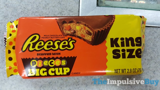 King Size Reese's Peanut Butter Cup Stuffed with Reese's Pieces