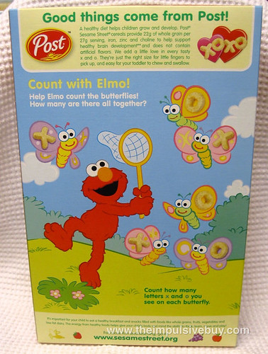 Post Sesame Street C is for Cereal A is for Apple Box Back