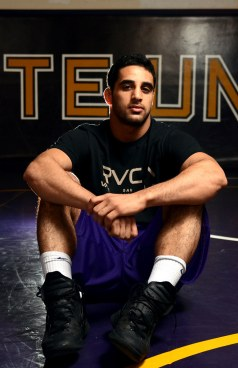 Naveed Bagheri, an SF State Gator and All-American wrestler poses on Thursday, March 21, 2013. Bagheri recently became the National Collegiate Athletic Association Division II Champion for the 141 weight class in Birmingham, Ala. March 9 Photo by Frank Leal / Xpress