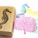 Seahorse Stamp: Hand Carved Stamp