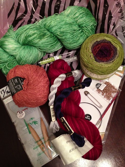 Enjoying the few new additions to my yarn stash. #project365