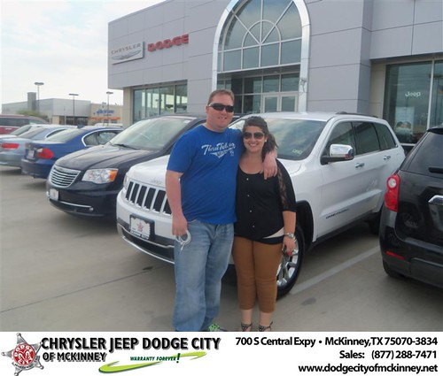 Dodge City of McKinney would like to say Congratulations to Joshua Stewart on the 2014 Jeep Grand Cherokee by Dodge City McKinney Texas