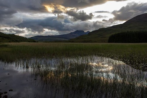 Blaven ( Blà Bheinn ) across Loch Cill Chroisd as dusk approaches. by emperor1959