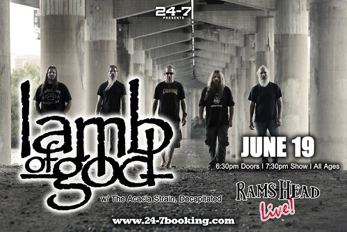 Lamb Of God at Rams Head Live