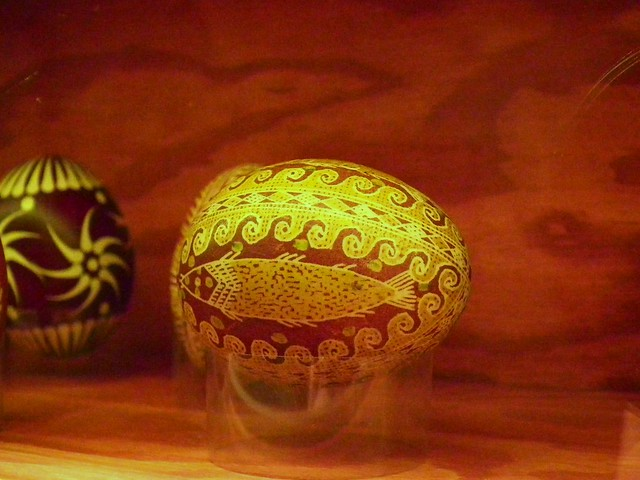 Polish pisanka - Easter eggs at the Ethnographic Museum in Kraków